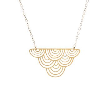 Striped Cloud Necklace