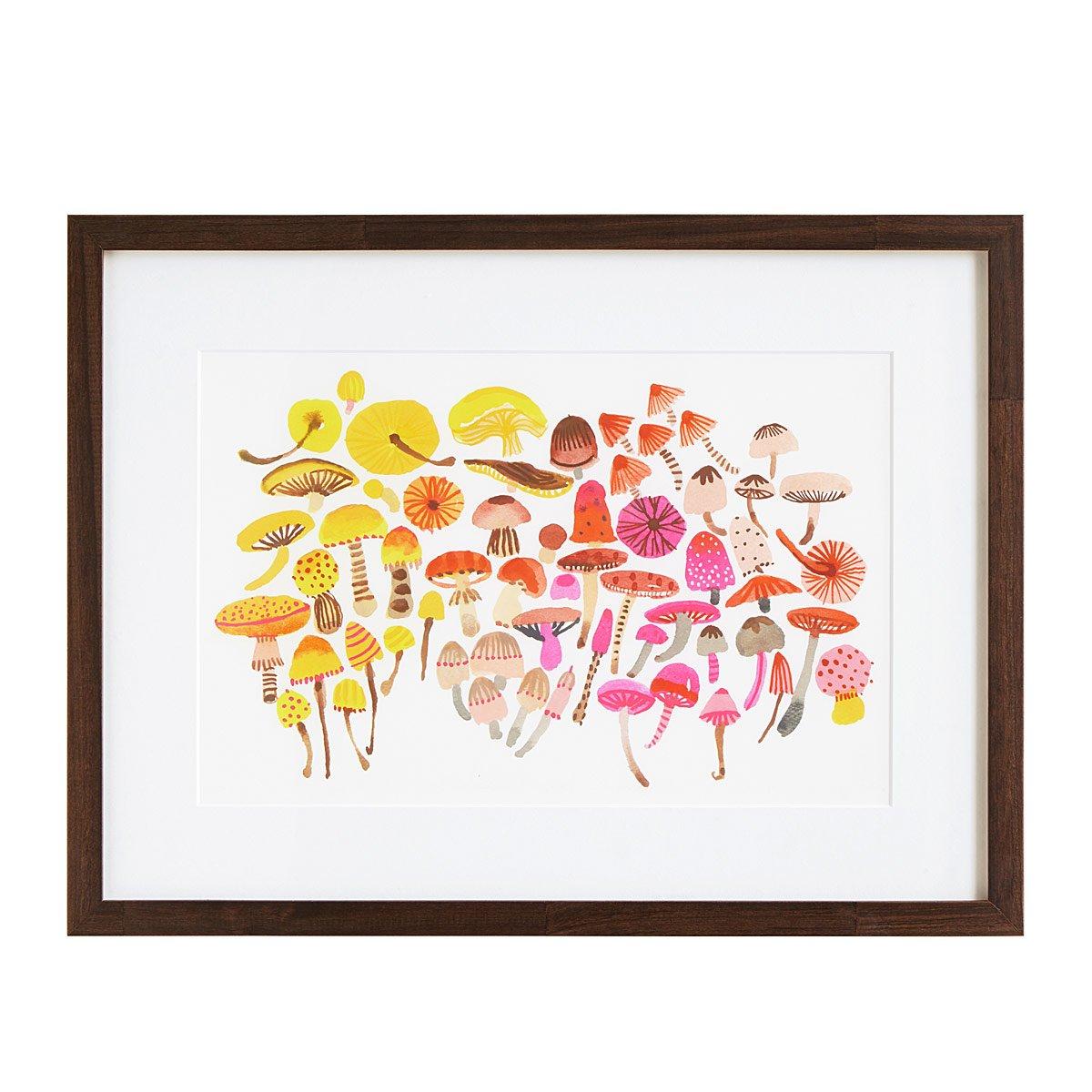 Ombre Mushroom Print | Mushroom Types, Botanical Prints | UncommonGoods