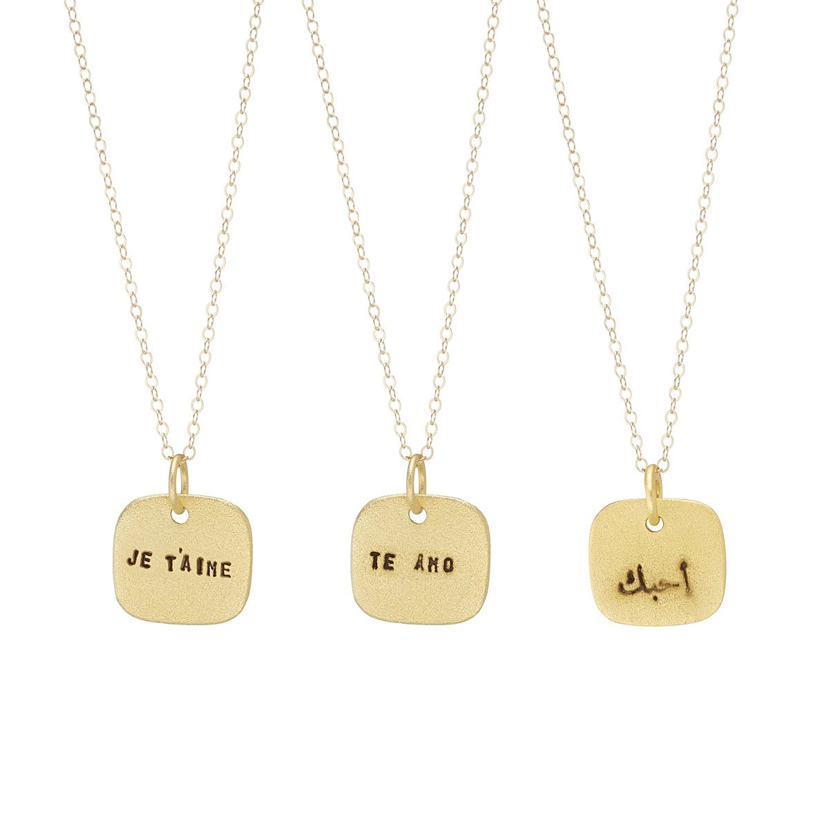 Language of love necklaces anniversary gift womens jewelry love language of love necklaces 1 thumbnail aloadofball Choice Image