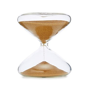 Gold Productivity Timing Hourglass