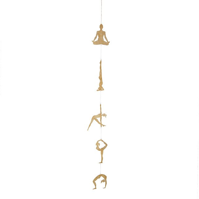 Brass Yoga Pose Wall Hanging