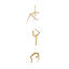 Brass Yoga Pose Wall Hanging 2 thumbnail