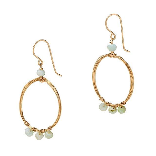 cd686e747ce76 Peruvian Opal Hoop Earrings | women's jewelry, opal jewelry ...