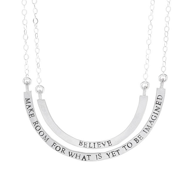 Believe & Make Room Necklace