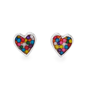 sprinkle heart studs