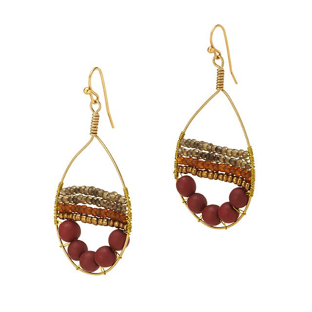 Red Dewdrop Earrings