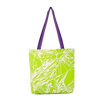Grass Green Glitch Tote