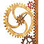 Garden Gears Outdoor Clock & Thermometer 3 thumbnail
