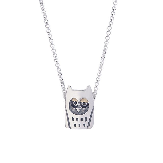 Wise Blinking Owl Necklace