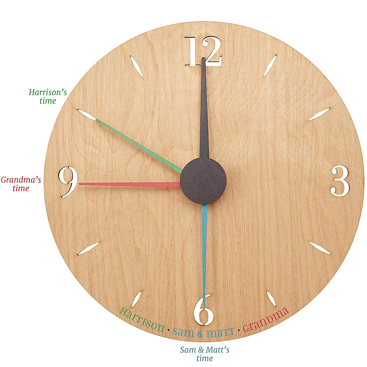 Unique wood gifts cool wooden gifts uncommongoods customizable relative time custom clock amipublicfo Gallery