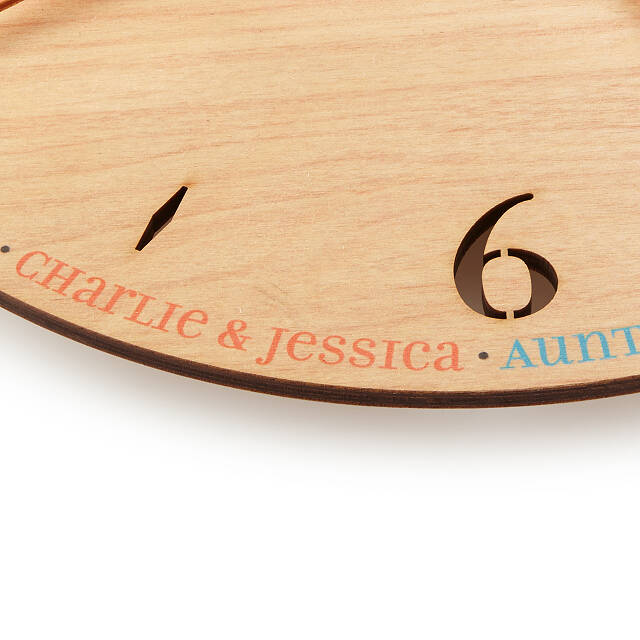 Relative Time Custom Clock | Unique Family Gifts