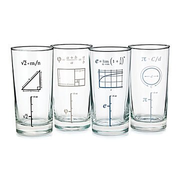 Mathematical Glasses - Set of 4