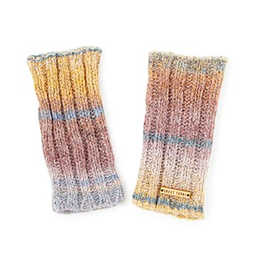 Dip-Dyed Rainbow Fingerless Gloves