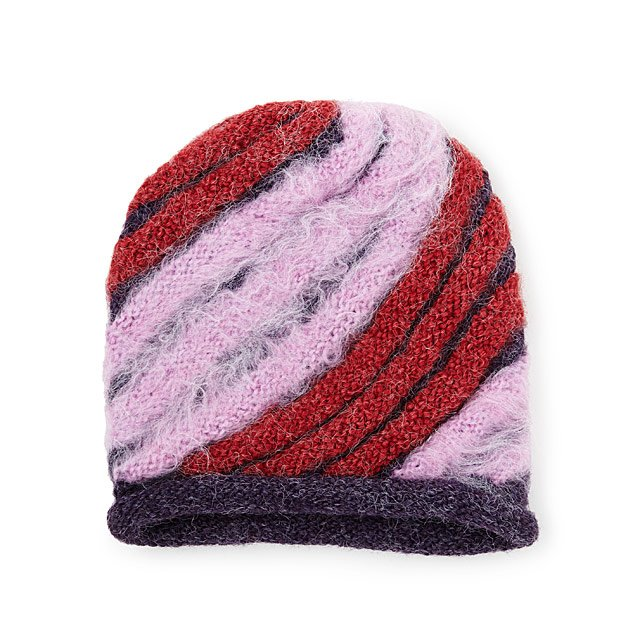 Shaggy Striped Hat