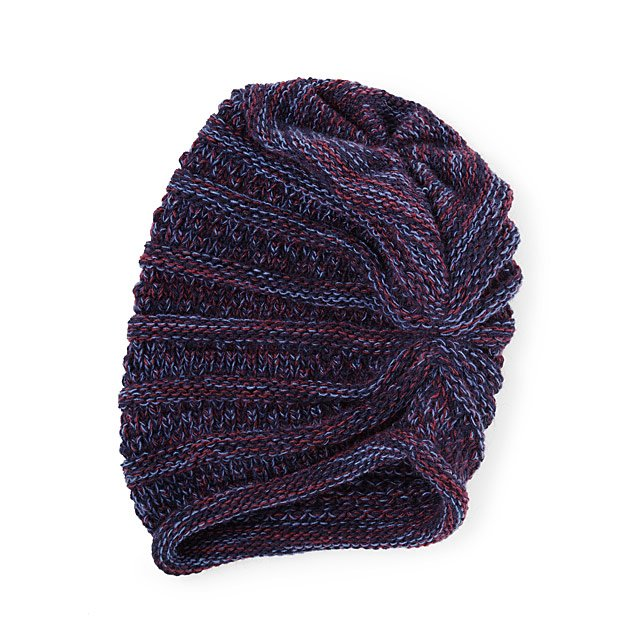 Pop of Purple Slouchy Hat