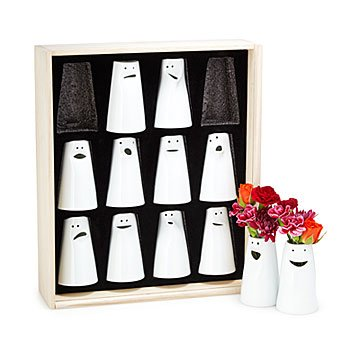 Porcelain Personality Vases - Set of 12