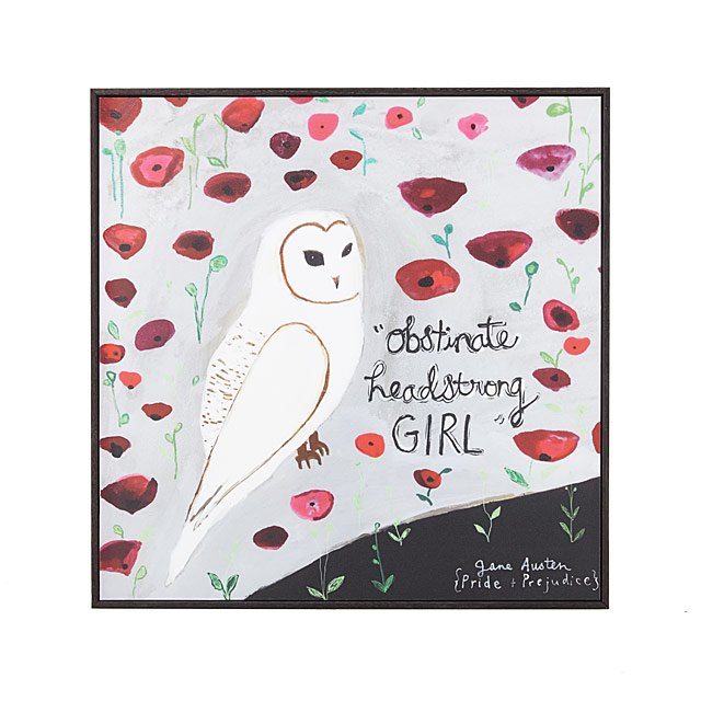 Obstinate Headstrong Girl Framed Art Block