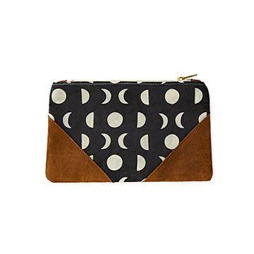 Moon Phase Waxed Canvas Pouch