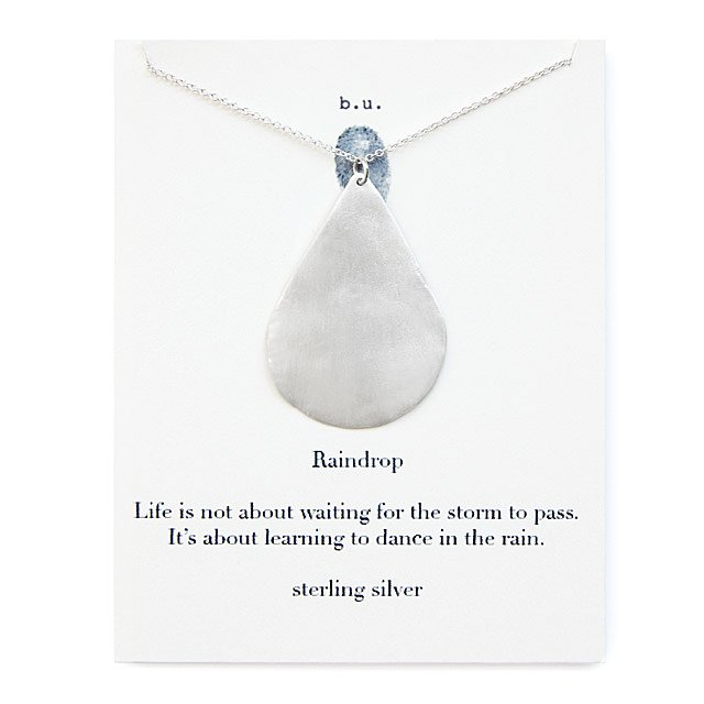 sparkling williams raindrop jewellery necklace custom products