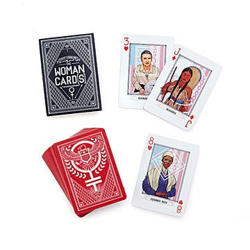 Woman Card Playing Deck