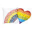 Flowers & Candy Rainbow Heart Pillow 3 thumbnail