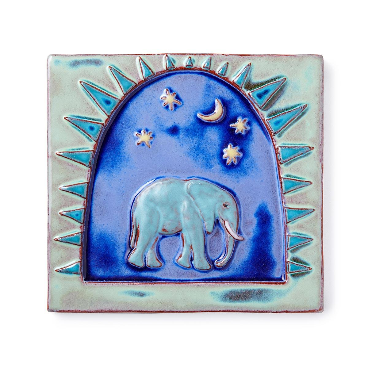 Elephant Art Tile | Handmade Tiles, Terracotta | UncommonGoods