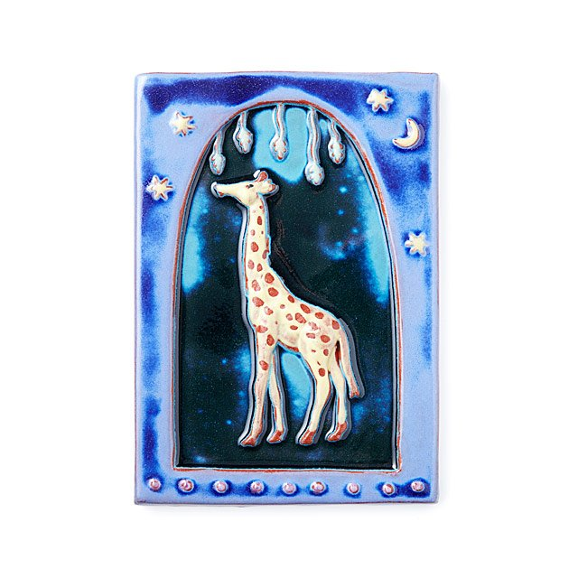Giraffe Art Tile