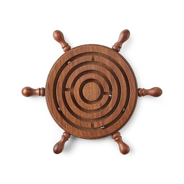 Steering Labyrinth Game