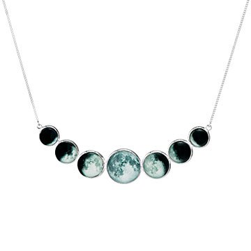 Moon Phase Bib Necklace