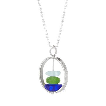 Sea Glass Orbit Necklace