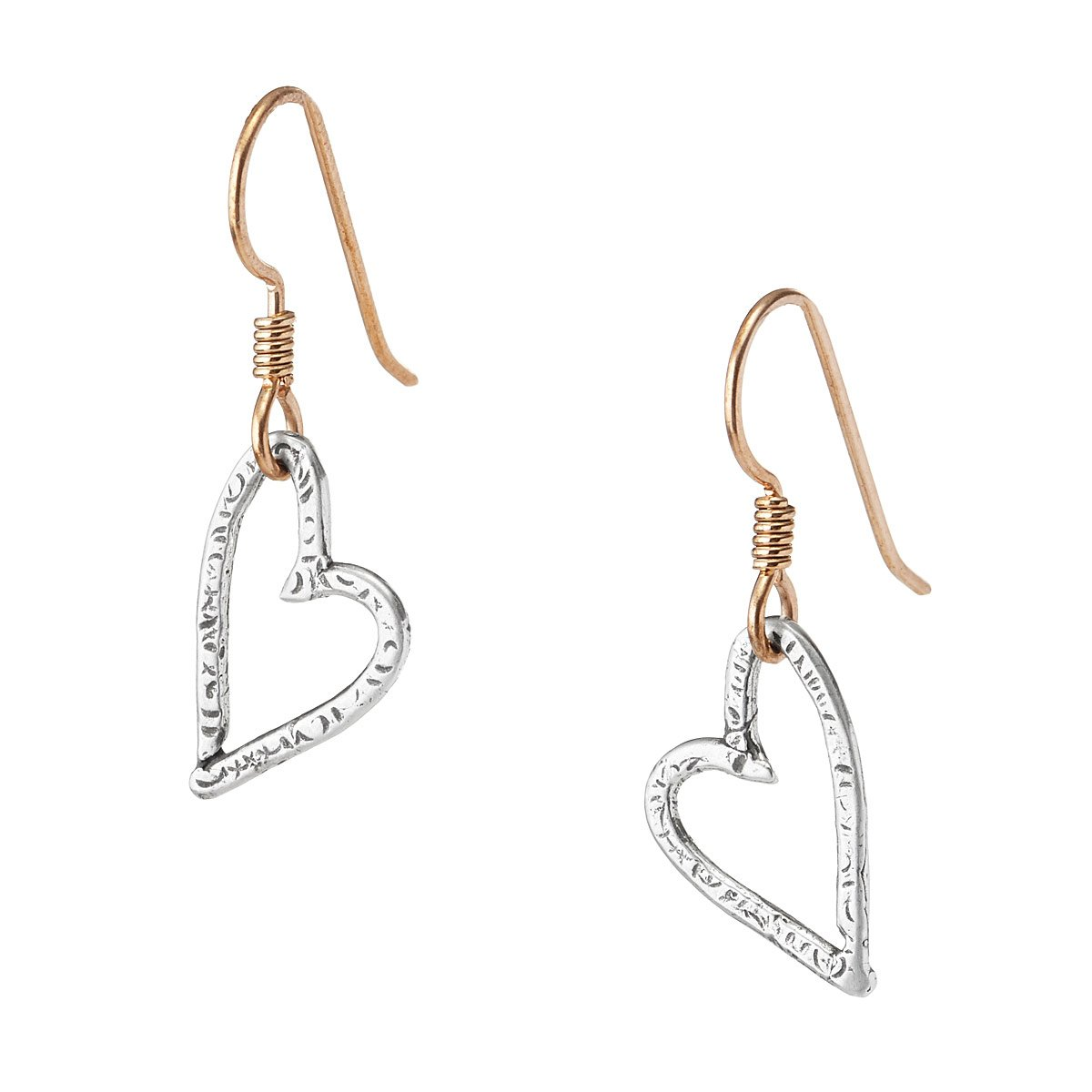 edizione ultima en small white heart earrings pendant