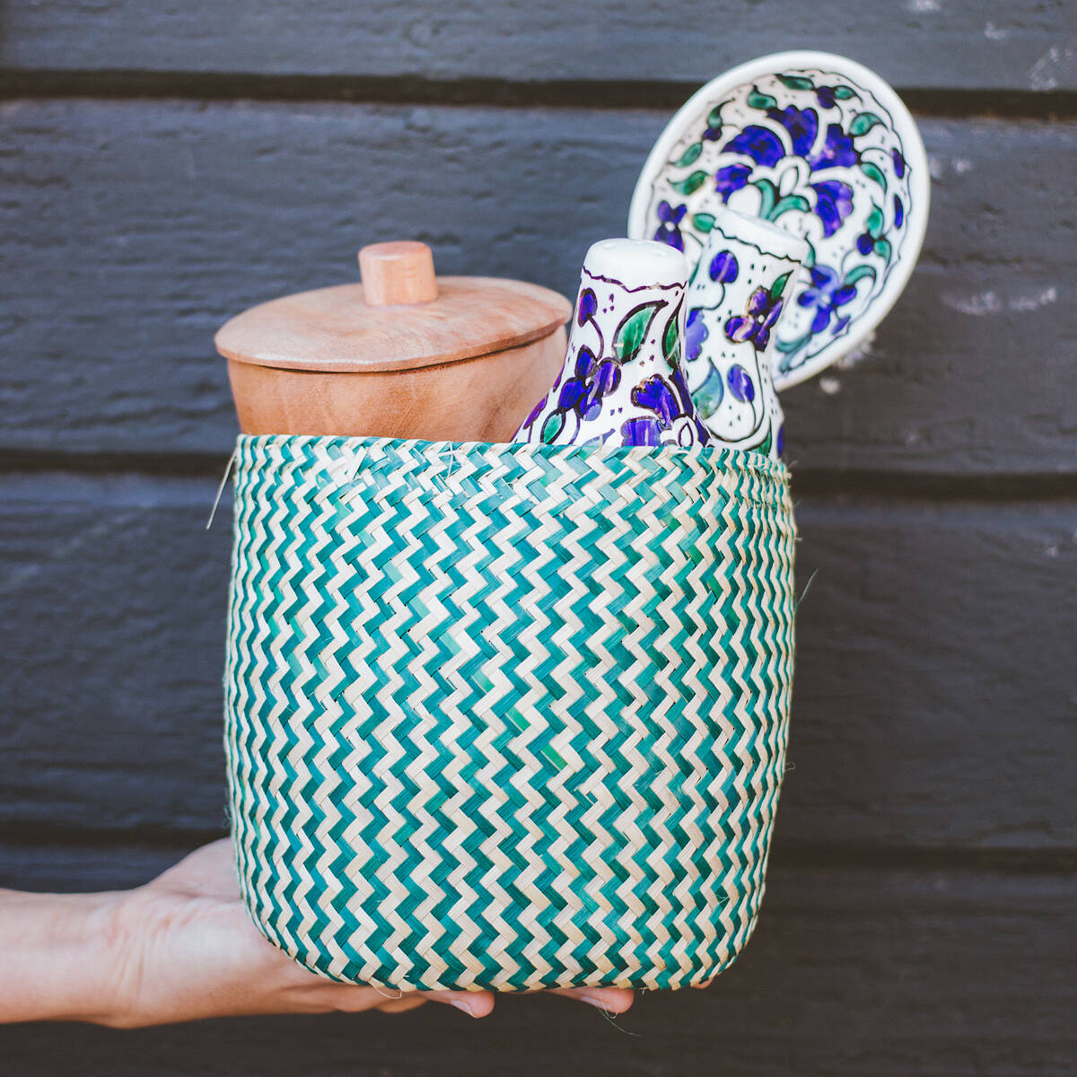 Savory Global Gift Basket | Handmade baskets, Ceramic spoon rest ...