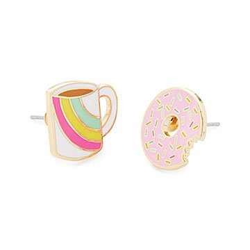 Coffee and Donut Earrings