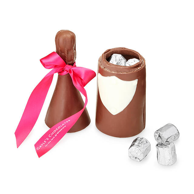 Chocolate Truffle Champagne Bottle