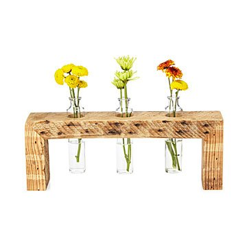 Triple Bud Vase Centerpiece