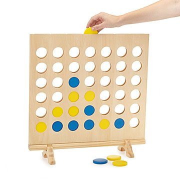 Giant Wooden 4-in-a-Row Game