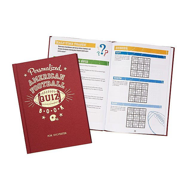 Personalized Football Quizbook
