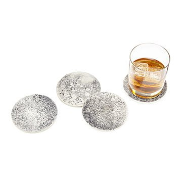 Concrete Moon Coaster Set
