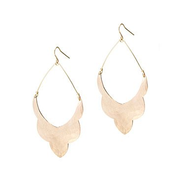 Rose Gold Scallop Earrings
