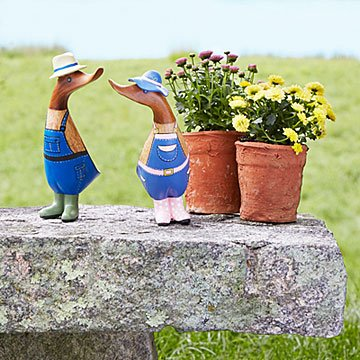 His & Hers Gardener Duckies