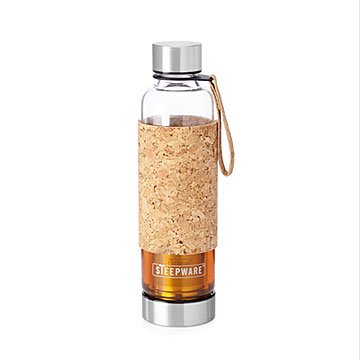 Portable Tea Tumbler with Cork Sleeve