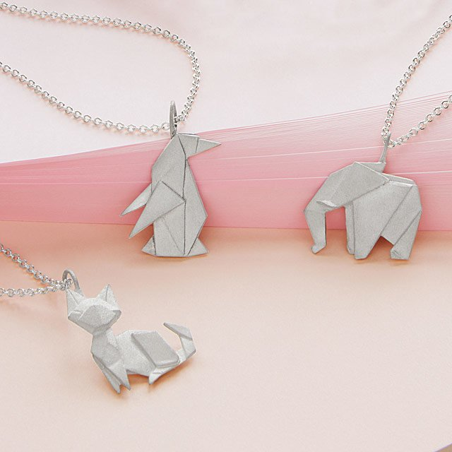 Origami Menagerie Necklaces Origami Jewelry Origami Necklace