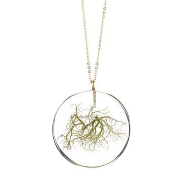Nature's Bounty Moss Necklace