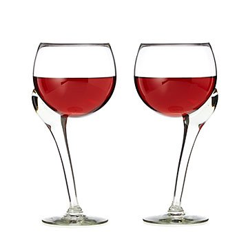 Offset Stem Wine Glasses