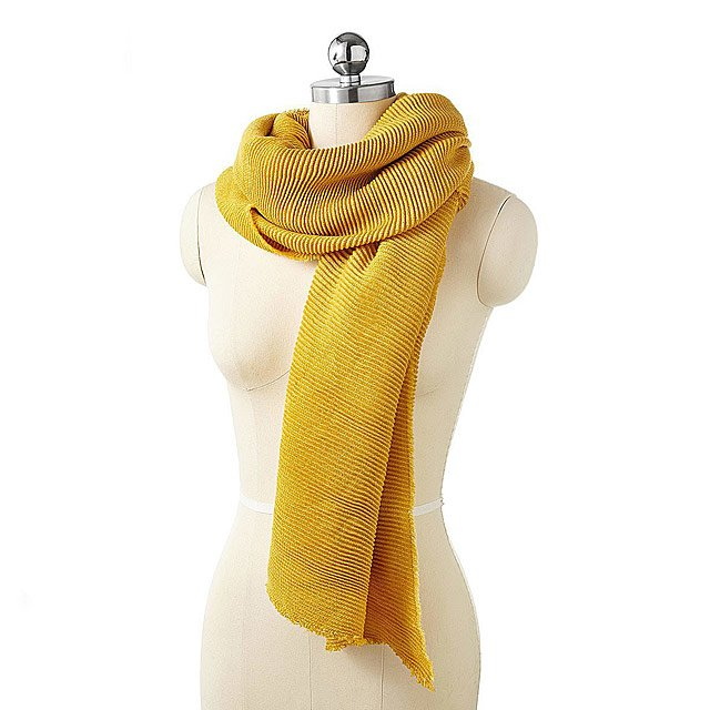 All-Season Micro Pleated Scarf