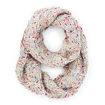 Winter's Day Confetti Infinity Scarf