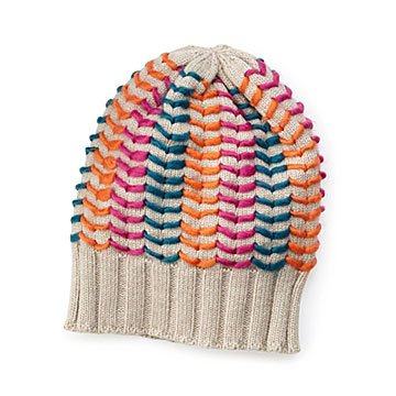 Hand-stitched Chevron Hat