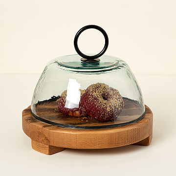 Reclaimed Serving Board & Glass Cloche