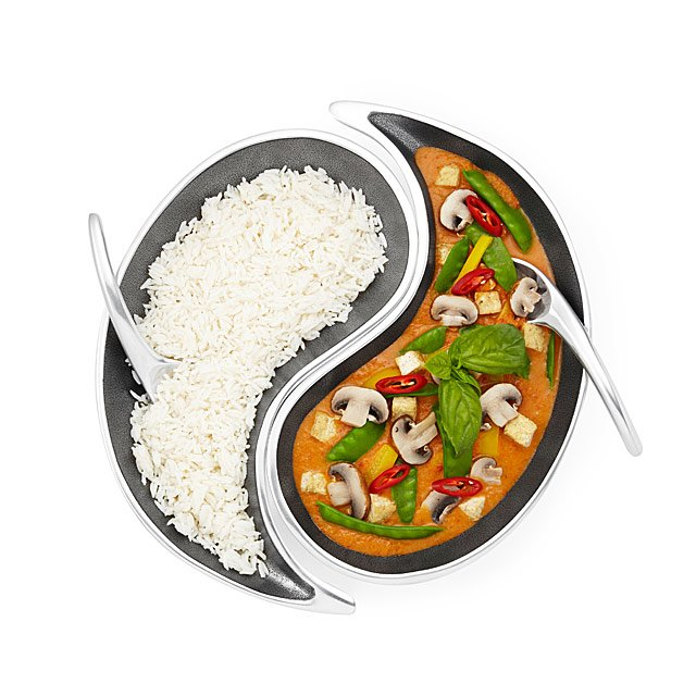 Yin Yang Serving Bowl Set
