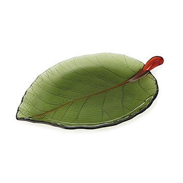 Glass Leaf Platter